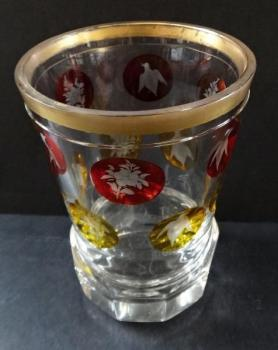 Goblet with yellow and ruby medallions