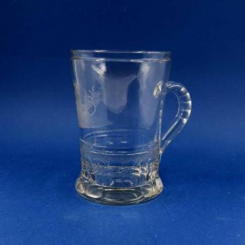 Glass Spa Sipping Cup - clear glass - 1815